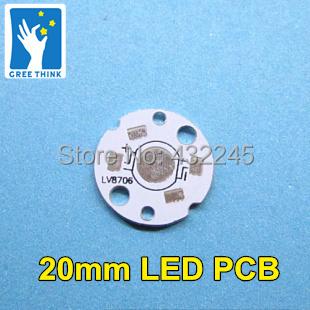 Free Shipping 1w aluminum plate Diameter 20mm High power LED beads circuit board LED cooling plate LED heat sink.100pcs 200pcs .(China (Mainland))