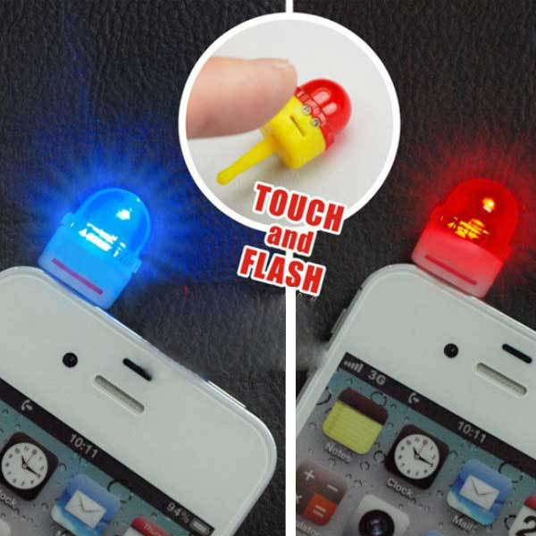 ChinaStock 3.5mm Whistle Model LED Flash Dustproof Plug For Mobile Phone MP4 MP3(China (Mainland))