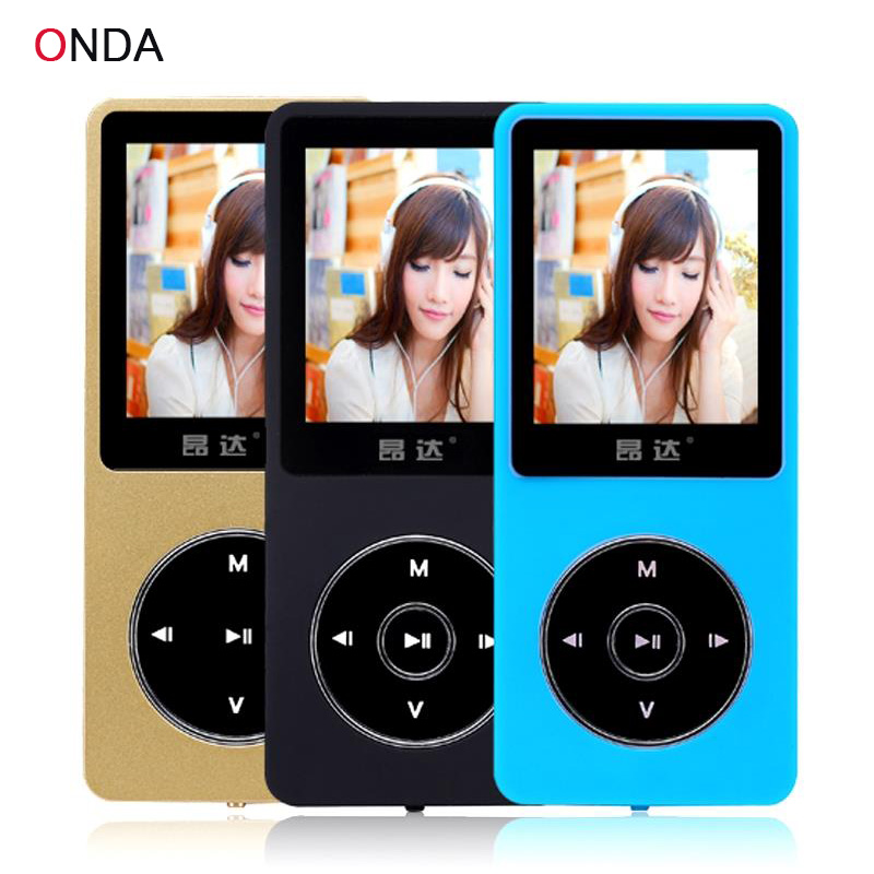 Original Onda N15 Latest Ultrathin MP3 Player Build in Speaker 1.8 Inch Screen can play 80h With FM E-Book Clock Data Drop Ship(China (Mainland))