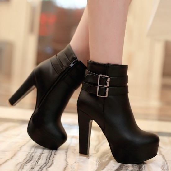 High Heels Ankle Boots Outfits