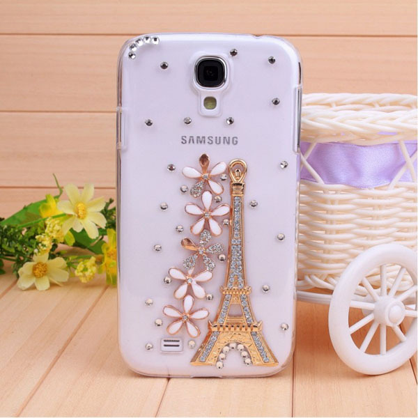 Fashion painted skull Eiffel Tower and flower Design cases covers for I9500 Galaxy S IV S4 Wholesale Free shipping