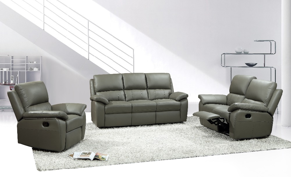Wholesale living room sectional sofa with recliner YB581-B(China (Mainland))