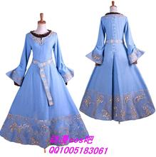 Top Quality Maleficent Princess Aurora Cosplay Costume Custom Made Light Blue Dress