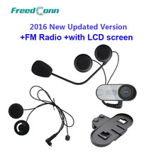 FreedConn TCOM-SC W/Screen Bluetooth Helmet Intercom Headset+Extra Soft Earpiece+Extra Bracket Free Shipping!!