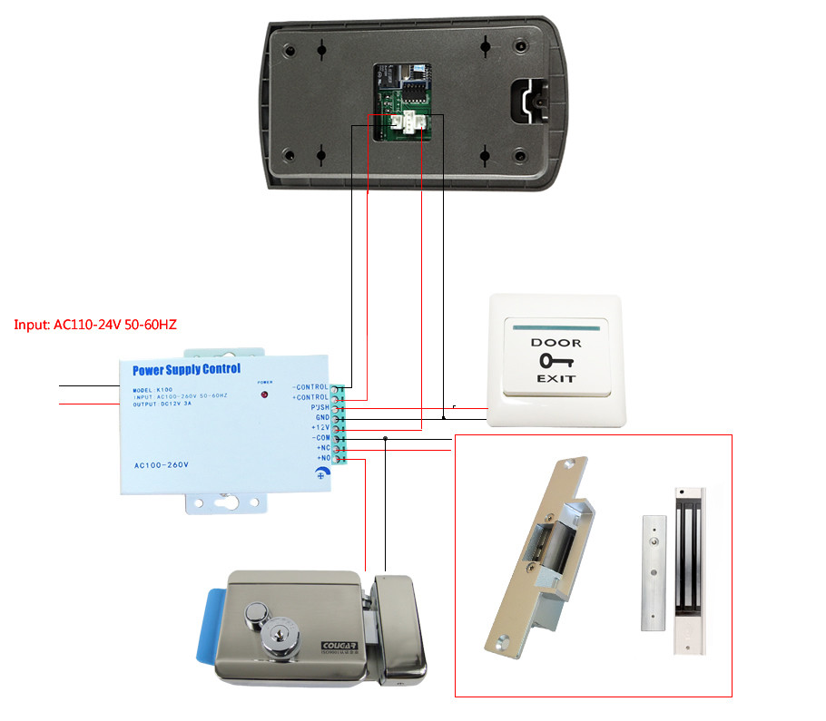 S2 Access Control Wiring Diagram likewise Access Control Power Supply Diagram additionally Free Shipping Brand New Home Wired 7 TFT Video Inter  Entry Door Phone System 1 Monitor as well Switch Elements as well Linear Ae1000plus Wiring Diagram. on door strike intercom access control diagram