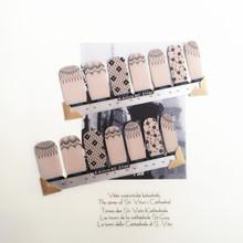 Brown Simple Fresh Nail Arts Sticker 14 pcs/set Waterproof Nail Decal Art Sticker Gel Polish Manicure Foils Beauty Makeup