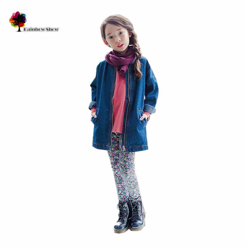 GGOGGIRI Brand New Childrens Spring Autumn Girls  Fashion Denim Cotton Jacket Polar Fleece Lining Long-sleeved Casual Outwear<br><br>Aliexpress