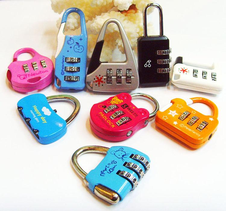 50PCS/lots combination lock rod box Boot password padlock Fashion beautiful process locks wholesale(China (Mainland))