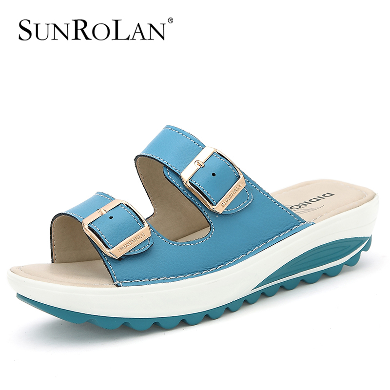 Popular  WOMENS SLIP ON SANDALS MULES SUMMER BEACH FLIP FLOPS PLATFORM SHOES