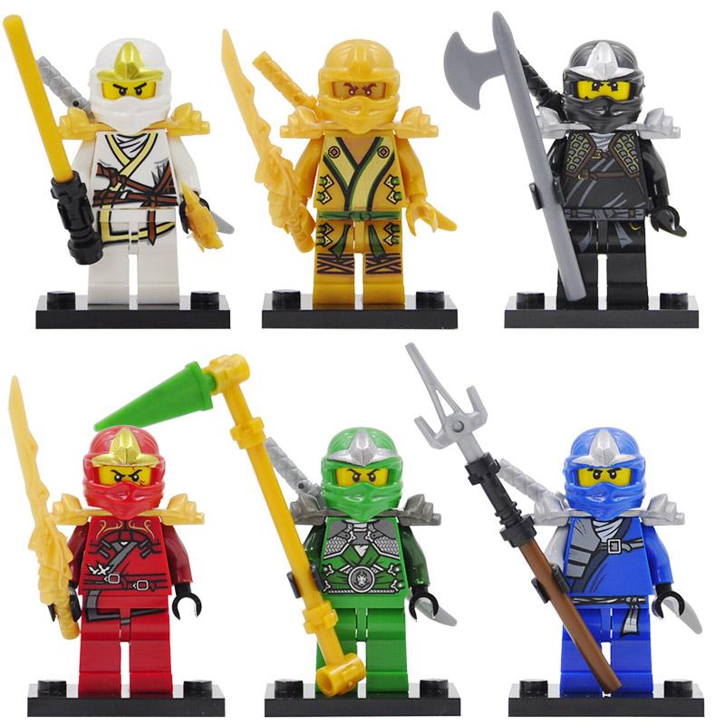 Ninja Golden Kai Jay Cole Zane Lloyd Minifigures Compatible Legoe DC Ninjagos Weapon Building Blocks Toy DECOOL 10011-10016  -  COASTLINE TOY store