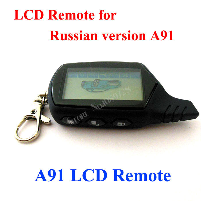 New 2015 free shipping A91/B9 dialog Car remote for russian version starline A91 Lcd two way car remote controller(China (Mainland))