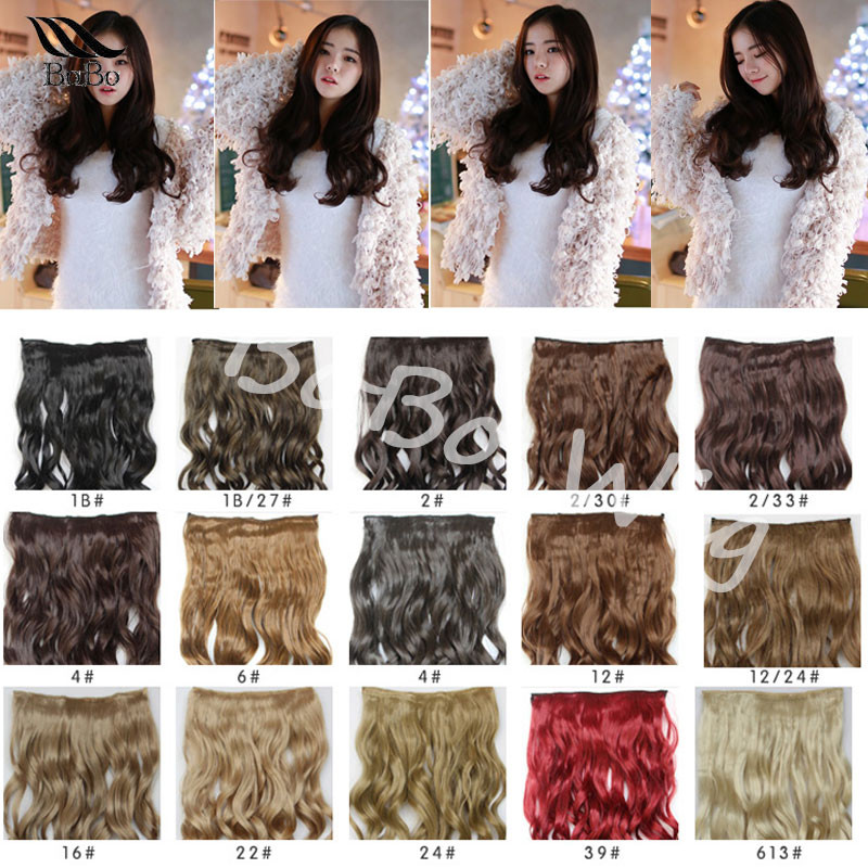22 curly cheap clip in hair extensions 5clips heat resistance fibre women synthetic hair blonde wavy clips in hair extensions<br><br>Aliexpress