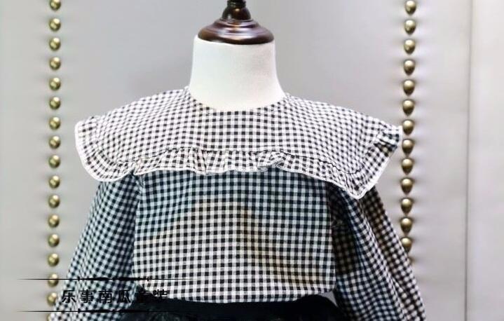 2016 Girls Blouse Shirt Spring Style Children's Clothing Girls White Striped Long-sleeved Shirt Kids Blouse