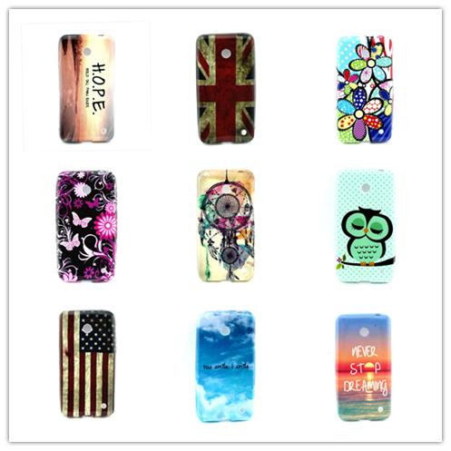 Newest Flower Soft TPU Plastic Phone Case Cover for Nokia Lumia 630 Case For Nokia Lumia 635 Case Drop shipping & Wholesales(China (Mainland))