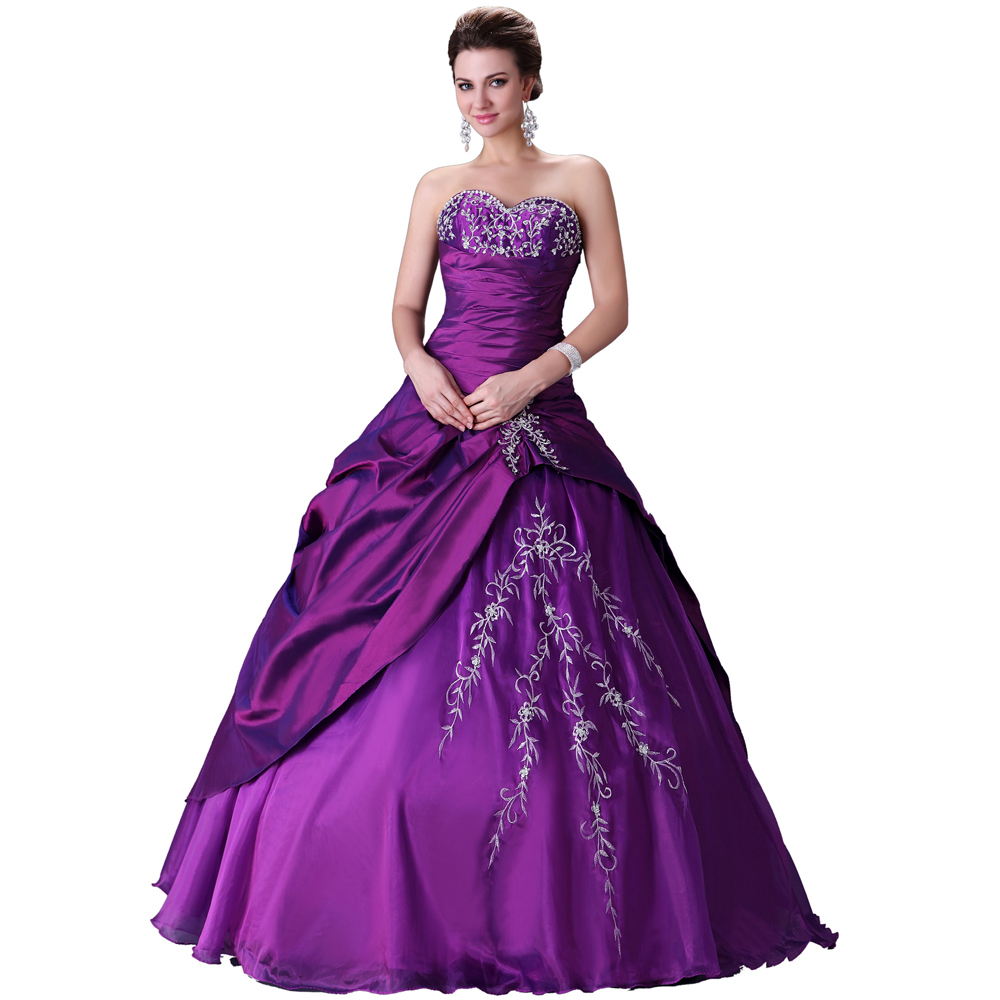 Elegant design free shipping purple wedding dresses gown for Designer ball gown wedding dresses