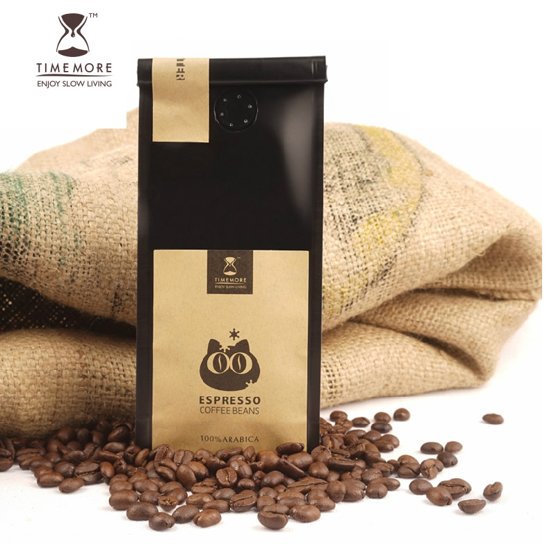 TIMEMORE coffee beans imported from Italy fresh roasted espresso pure black coffee powder free shipping 100