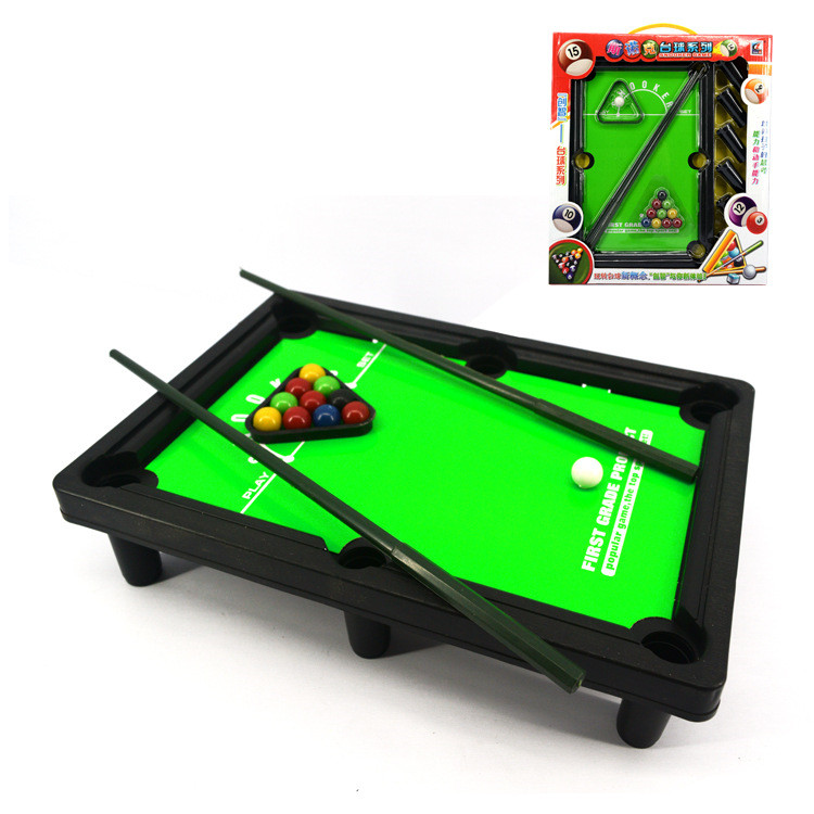 Plastic Children Toy Snooker Billiard Table 30*21*7 cm Boxed Mini Pool Ball Snooker Desktop Table Game(China (Mainland))