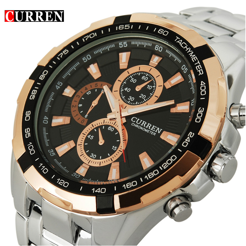 Curren fashion stainless steel male precision watch<br><br>Aliexpress