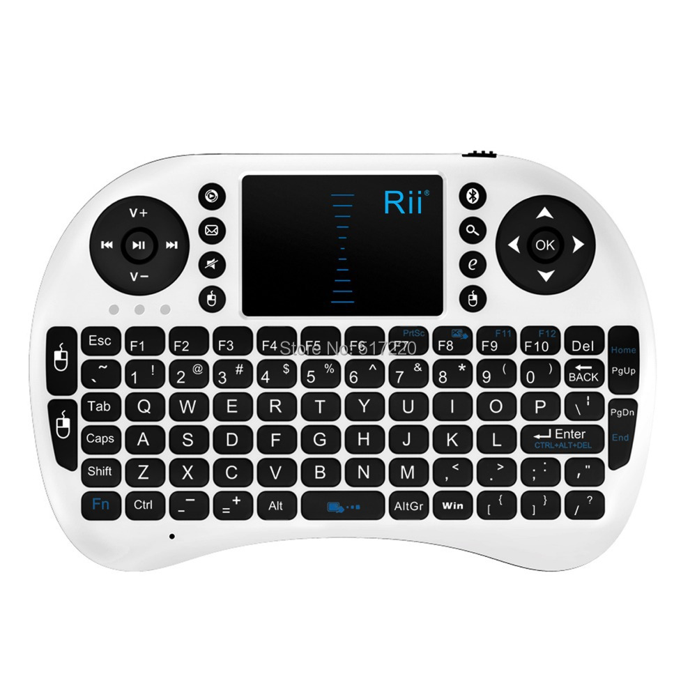Mini Wireless Keyboard RII I8 BT Black White Bluetooth Domestic Delivery Stock US - Funny Little Dream store