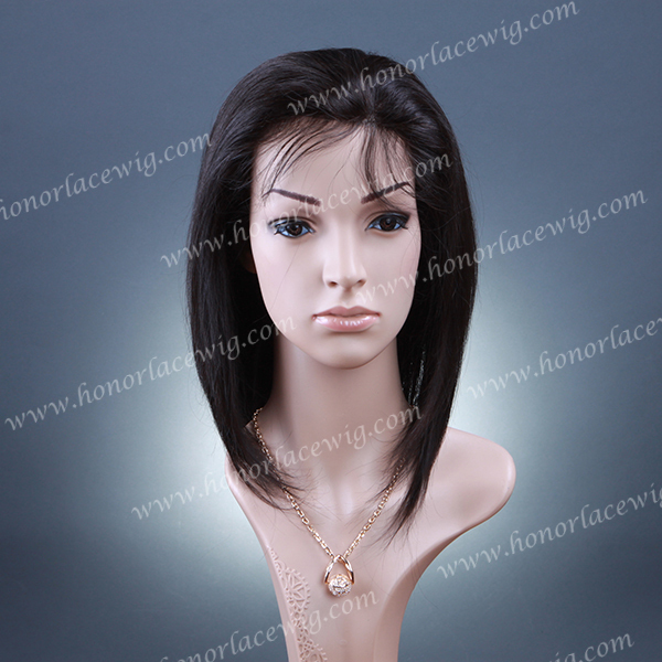"""thin skin pu around Silk top 4""""x4"""" hidden knot full lace wigs very natural hairline part free style 8 inches to 24 inches wigs"""
