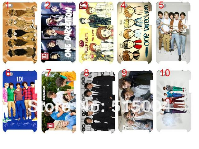 hot!!! NEW one direction ID case hard back cover for ipod touch 4 4th 10pcs/lot+free shipping