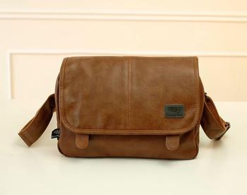 Горячие 2015 новые кожаные мужчины сумки посыльного бизнес черный мешок плеча bolsas мода crossbody сумка свободного покроя мужские дорожные сумки NT3438