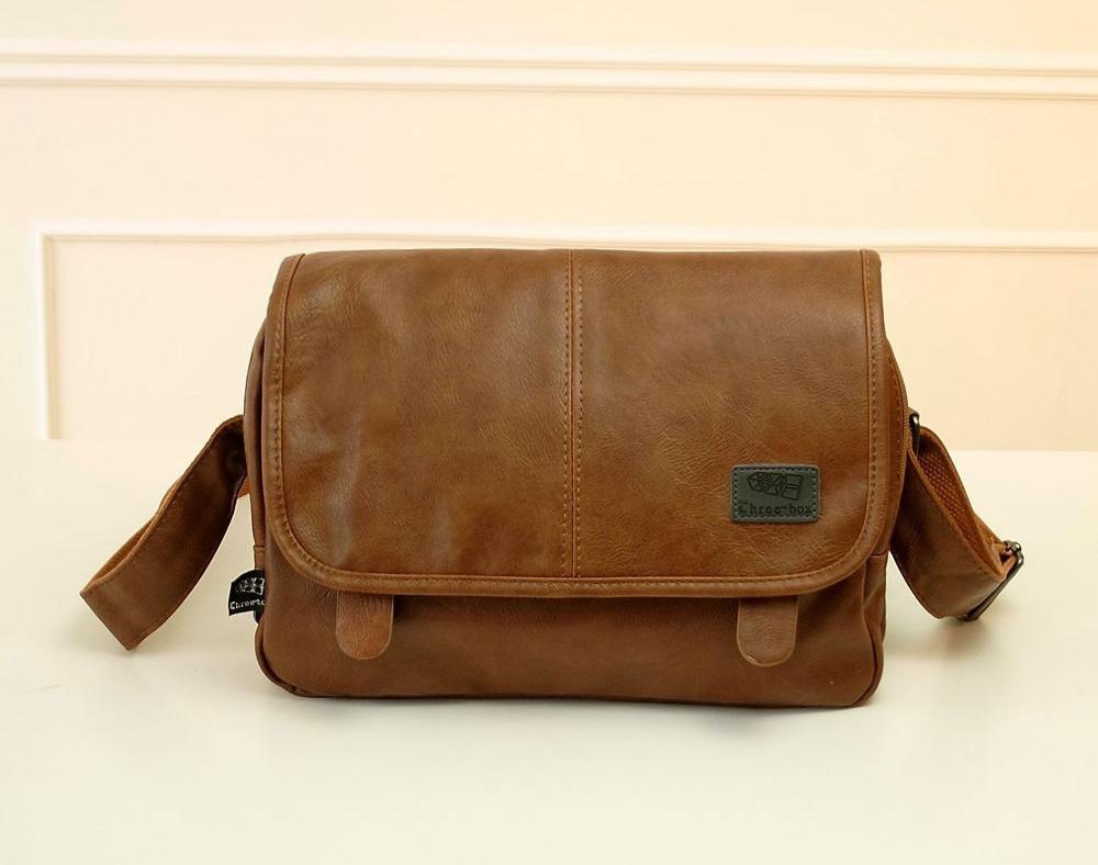 Hot 2015 New Leather men messenger bags Business Black shoulder bag bolsas Fashion crossbody bag Casual men's travel bags NT3438(China (Mainland))