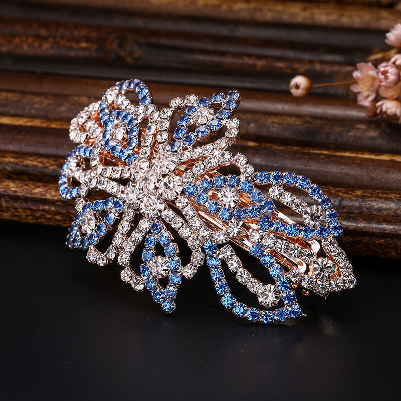 Women's Headwear Bling Beads Flowers Design Hairpin Accessories Big Hair Clip For Women CZ Crystal Fashion Jewelry Hairgrips(China (Mainland))