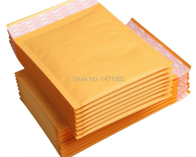 11*15cm Wholesales High Quality Golden Kraft Bubble Mailers Jiffy Bags(China (Mainland))