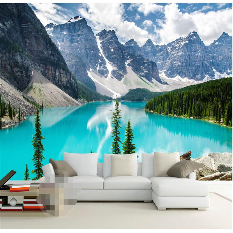 canada natural landscape snow lake 3d living room bedroom mural china