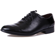Male White Black Casual Leather Shoes Flats Fashion Pointed Toe Lace-Up Men Dress Shoes British Style Wedding Oxford Shoes 3A
