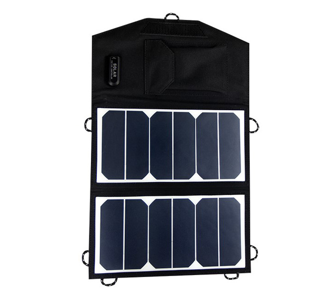 Hot Sale 13W 5V Portable power bank folded Monocrystalline silicon solar Charger USB for iphone, android phone,digital camera(China (Mainland))