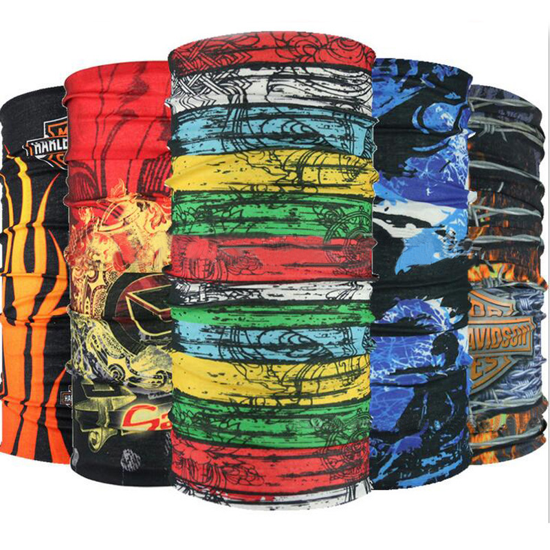 2017 New Magic Skull Bandana Multi Functional Headband Hiphop Hijab Scarf Seamless Face Mask Neck Tube unisex Scarf(China (Mainland))