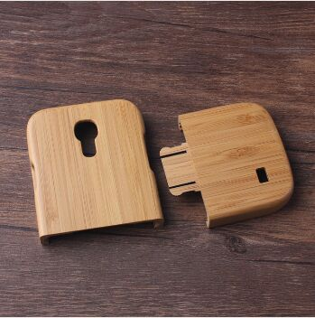 Top quality Natural handmade wooden wood case True bamboo cover for Samsung Galaxy S4 MINI I9190 Shell free shipping(China (Mainland))