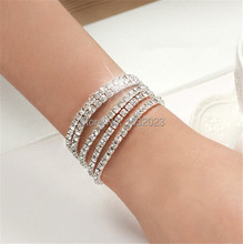 1pcs 2014 New Fashion Vintage Noble Exquisite Rhinestone Shining Bracelet Women Jewelry OB0001 109(China (Mainland))