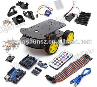 Robot Car Chassis Kit UNO R3 170 point Mini breadboard For Multi-Functional 4WD Car Assembly Kit(China (Mainland))