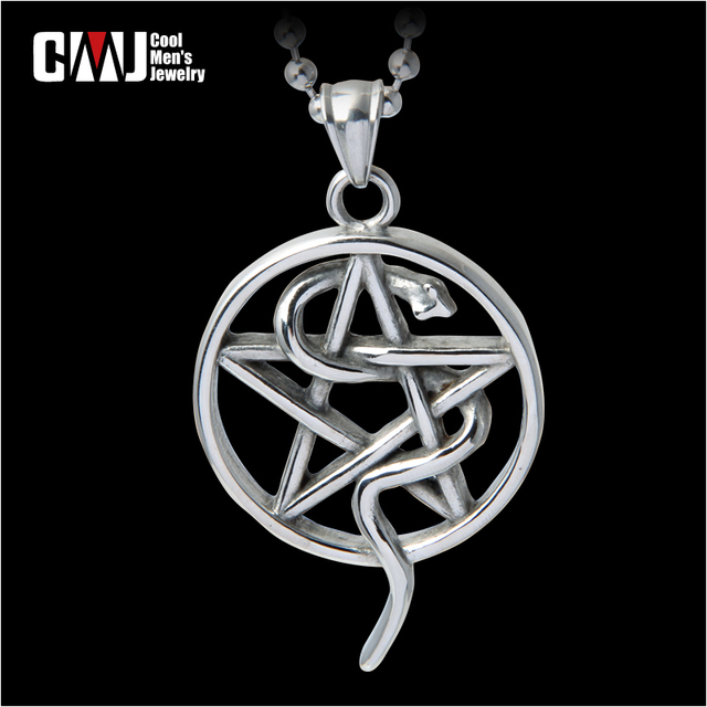 Five-pointed star titanium steel necklace pendant male fashion necklace male accessories
