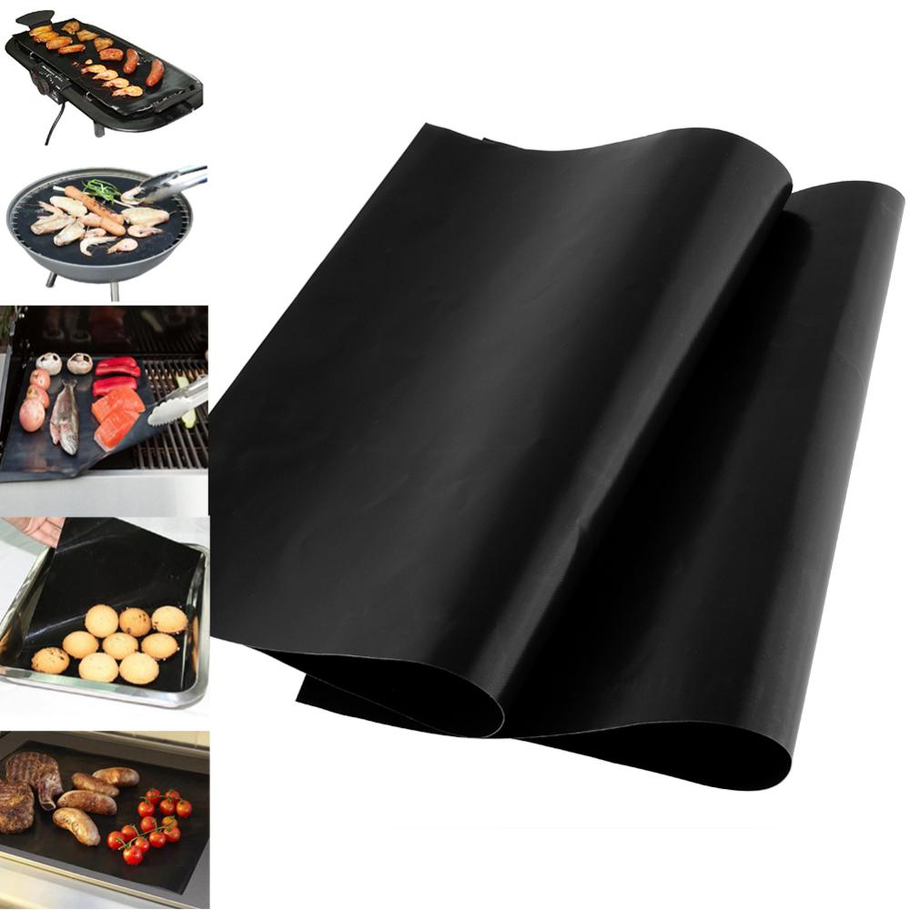 Hot New Hot 1pcs Reusable BBQ Grill Mat Sheet Hot Plate Portable Easy Clean OutDoor cooking tool Free Shipping drop shipping(China (Mainland))