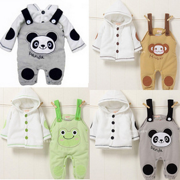 Retail 2015 Autumn style Infant clothes Clothing sets Cute Panda 2pcs(Full Sleeve + Pants) Baby clothes Free Shipping