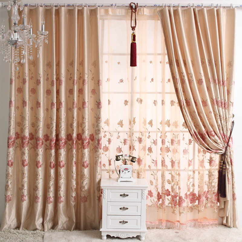 Quality Embroidery Lace Curtain Finished Product Peones Small Fresh Incurtains From Home