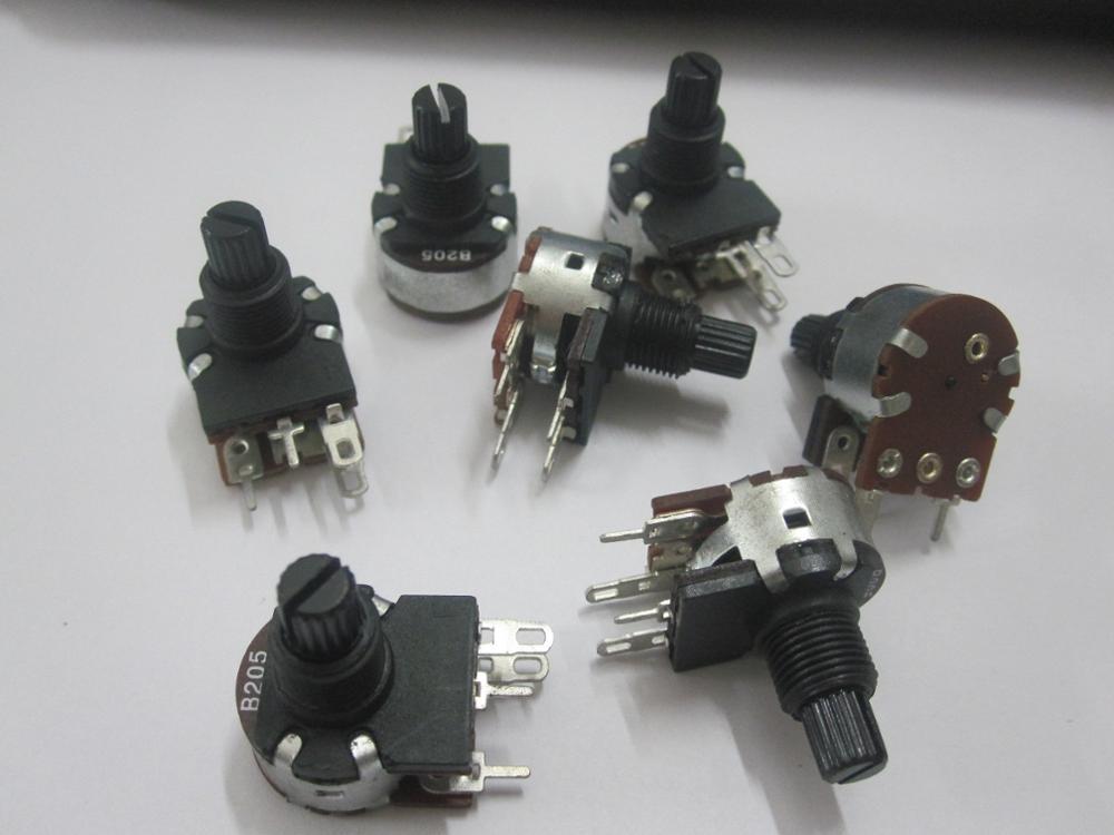 Original new 100% 16mm wiring switch four potentiometer B205/B2M dimmer lighting accessories audio volume resistance(China (Mainland))