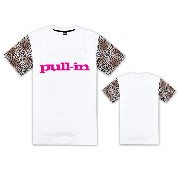 Hot Sale Pull-in men's t-shirt fashion o neck cotton leopard short sleeve tshirt male sport hip hop clothes pull in t shirts(China (Mainland))