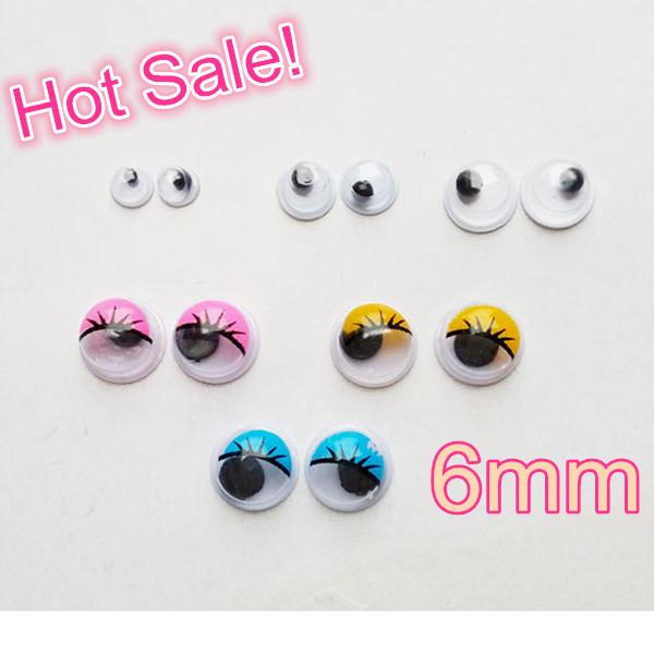 Hot Sale!Japan Fashion!20pcs 6mm Mini Eyeball/Eyes Funny Resin Nail Art Sticker Nail Decoraion Tools Free Shipping DIY(China (Mainland))