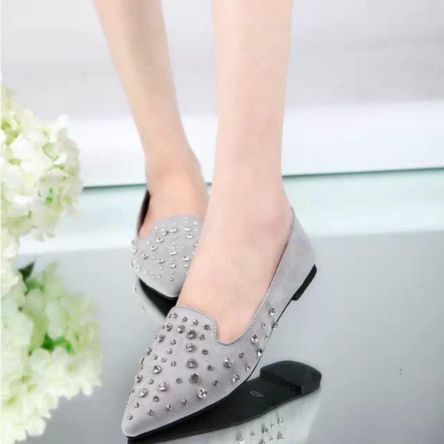 2015 new fashion diamond slope with a single toe head shallow mouth singles shoes low-heeled women's shoes(China (Mainland))