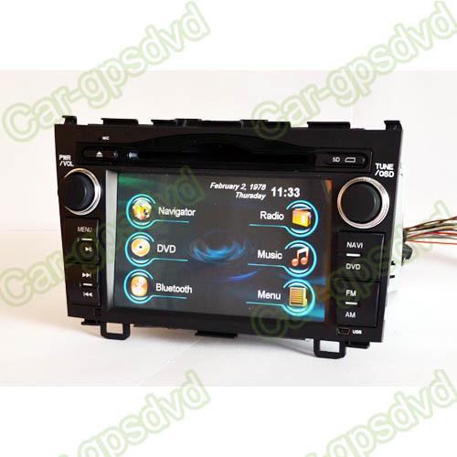 2 Din GPS Navigation DVD Player for 2007-2011 HONDA Car CR-V,Radio,Ipod-Free Shipping