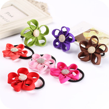 Buy 10 Pcs/Lot Cute Lovely Flower Elastic Hair Rope Ties Hairband Headwear Elastic Rubber Bands Women Holder Hair Accessories for $1.87 in AliExpress store