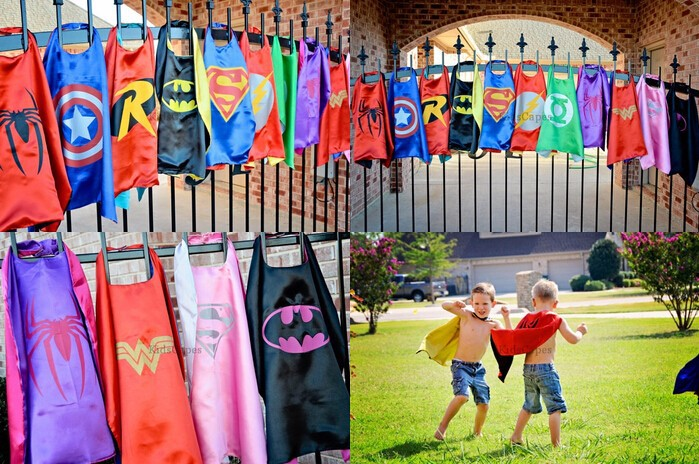Superhero cape Super Hero Costume for Children Halloween Christmas Birthday Party Costumes for Kids Children