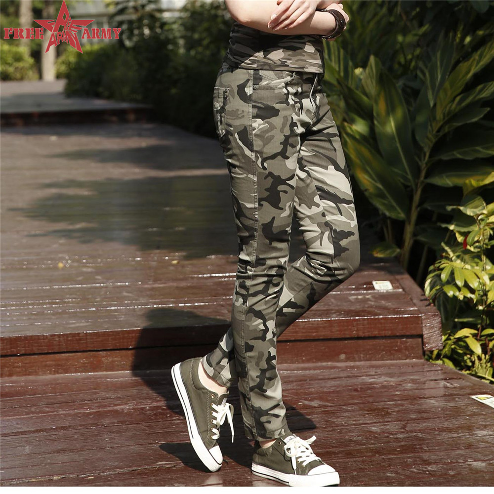 2016 Fashion Brand Sport Trousers Women Pants Slim Fit Camo Jogger Denim Pants Sweatpants Cotton Capri Pants Gk-985(China (Mainland))