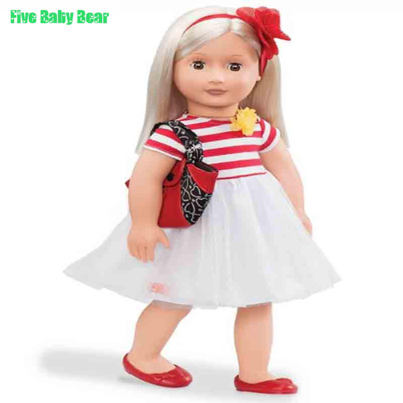 18inch Boneca Doll Clothes for  American Girl Doll Clothes Shoes Bag and Accessiories Best Gift for Children