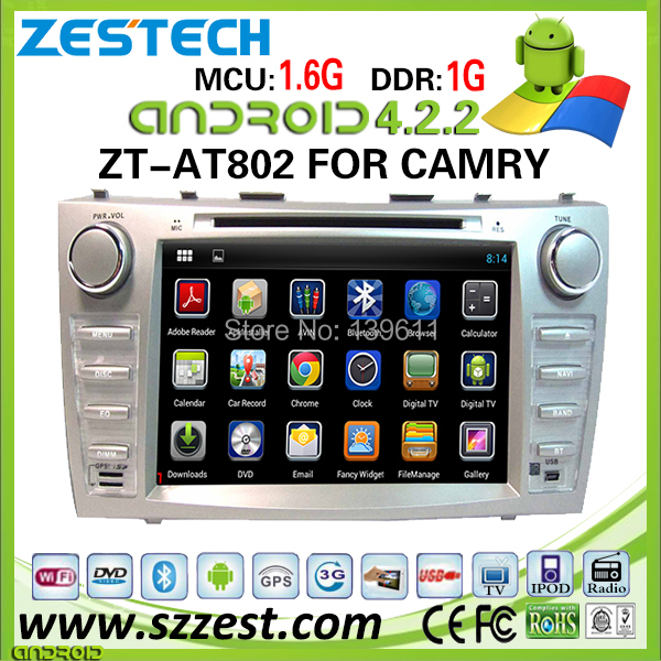 ZESTECH Factory OEM DVD 3G Android system 2011 car for toyota camry car pc with gps wifi(China (Mainland))
